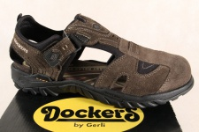 Dockers Sandale Sandalen Sandatetten Slipper braun Leder NEU