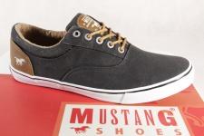 Mustang Herren Schnürschuh Sneaker Sportschuhe, schwarz, 4102 NEU