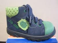 Jela LL-Stiefel blau/grün Lederfußbett Neu !!!