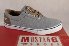 Mustang Schnürschuhe Sneaker Halbschuhe grau Stoff Textil 1225 NEU