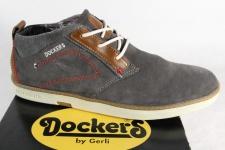 Dockers Schnürschuhe Halbschuhe Sneakers grau Velourleder 38SE001 NEU!