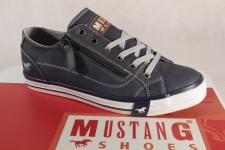 Mustang Schnürschuhe Sneakers Halbschuhe Sportschuh blau 1146 NEU