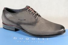 Bugatti Herren Schnürschuh Schnürschuhe Halbschuhe Sneaker grau 16309 Leder NEU!