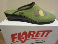 Florett Damen Pantoffel, Hausschuhe Filz, grün, Fußbett NEU!!
