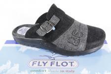 Fly Flot Herren Pantoffel Hausschuhe Filz, schwarz / grau, 880376, NEU!!