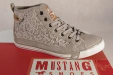 Mustang Schnürschuh Sneaker Halbschuh beige, Gummisohle 1146 NEU