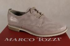 Marco Tozzi Schnürschuhe Sneakers Halbschuhe düne / beige-metalic 23702 NEU!