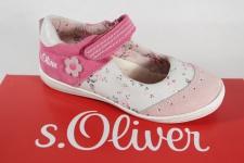 s.Oliver Ballerina weiß/ rose/ pink, Lederinnensohle NEU!!