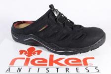 Rieker Damen Clogs schwarz, Wechselfußbett L0555 NEU!!