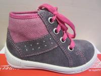 Superfit LL-Stiefel grau/pink Lederfußbett Neu !!!