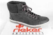 Rieker Stiefel Boots 38032 Schnürstiefel Winterstiefel grau, gefüttert NEU