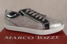 Marco Tozzi Schnürschuhe Sneakers Halbschuhe grau 23600 NEU!