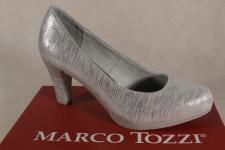 Marco Tozzi Pumps Ballerina Slipper silber 22448 NEU!