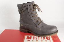 Mustang Stiefel Stiefeletten Schnürstiefel Boots grau 1139 NEU!