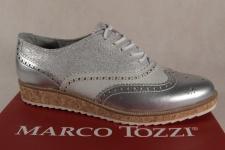 Marco Tozzi Schnürschuhe Sneakers Halbschuhe silber 23726 NEU!