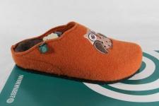 Dr. Brinkmann Damen Pantoffel echter Naturwollfilz, orange 320424 NEU!!