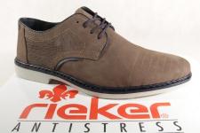 Rieker Herren Schnürschuhe, Halbschuhe 13032 Sneakers braun Leder NEU!