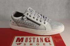 Mustang Schnürschuhe Sneakers Sportschuhe Halbschuhe 1246 grau/ silber NEU