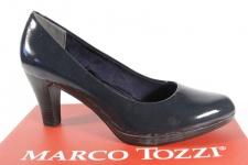 Marco Tozzi Pumps Slipper Trotteur blau Lack 22408 NEU!