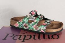Birkenstock Papillio Damen Pantoletten, grün/ pink 1000475 Softfußbett NEU!