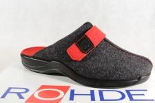 Rohde Damen Pantoffel, Softfilz, schwarz/ rot 2315 NEU!!