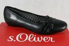 s.Oliver Ballerina Slipper Pumps schwarz 22110 NEU!!