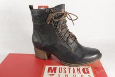 Mustang Stiefel Stiefeletten Schnürstiefel Boots grau 1197 NEU!