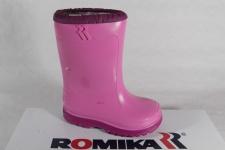 Romika Schneestiefel, Gummistiefel warm gefüttert, rose/fuchsia PVC, 5007 NEU!