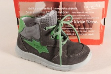 Superfit Jungen LL-Stiefel grau/grün Lederfußbett 00324 Neu !!!