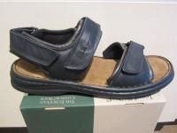 Seibel Sandale Sandalette schwarz/braun Leder Klettverschluss NEU