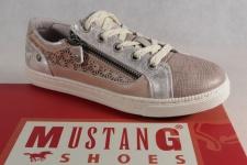 Mustang Slipper Sneakers Sportschuhe Halbschuhe rosè Stoff Gummisohle NEU