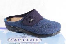 Fly Flot Pantoffel Pantoletten Hausschuhe blau mit KV Neu!