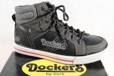 Dockers Jungen Stiefel Stiefeletten Boots schwarz NEU