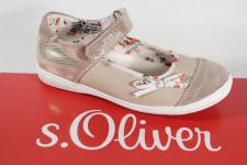 s.Oliver Ballerina beige/altrosa, Lederinnensohle NEU!!