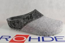 Rohde Damen Pantoffel Hausschuhe Pantoletten Softfilz grau 6020 NEU!!
