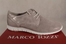 Marco Tozzi Schnürschuhe Sneakers Halbschuhe beige metallic 23728 NEU!