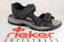 Rieker Sandale Sandalen schwarz Klettverschluss NEU