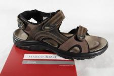 Marco Tozzi Herren Sandale Sandalette braun Leder weiches LederfußbettNEU