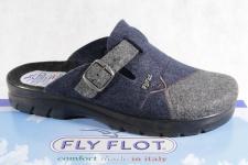 Fly Flot Herren Pantoffel, Filzstoff, blau/ grau, Fußbett 882014 NEU!!