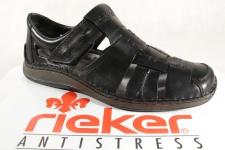 Rieker Herren Slipper Sneakers Halbschuhe 05275 schwarz Echtleder NEU