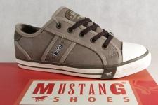 Mustang Schnürschuhe Schnürschuh Sneaker Halbschuhe grau erde 1209 NEU