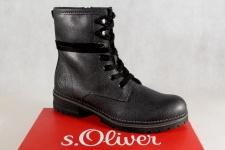 S.Oliver Damen Schnürstiefel Stiefel, Stiefelette, Boots anthrazit 2525 NEU!