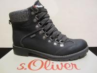S.Oliver Stiefel, Boots Winterstiefel schwarz, warm gefüttert, wasserdicht NEU