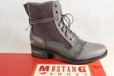 Mustang Stiefel Stiefeletten Schnürstiefel Boots grau 1229 NEU!