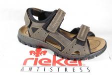 Rieker Sandale braun 3-fach Klettverschluss, weiche Innensohle NEU