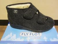 Fly Flot Herren Hausschuhe mit Klettverschluss, schwarz 880277 NEU!!