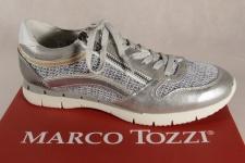 Marco Tozzi Schnürschuhe Sneakers Halbschuhe grau silber 23702 NEU!