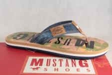 Mustang Herren Zehenstegpantoletten Pantoletten Zehenstegpantolette NEU