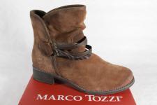 Marco Tozzi Stiefel, Stiefelette, braun, leicht gefüttert, Schlupfstiefel NEU!!