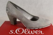 s.Oliver Pumps, Ballerina Slipper grau, 22404 NEU!